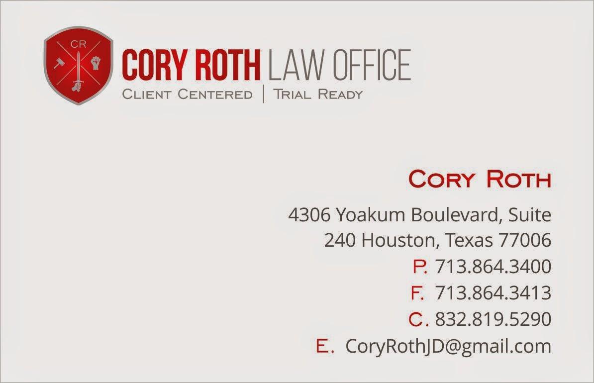 Houston Criminal Defense Attorney Cory Roth