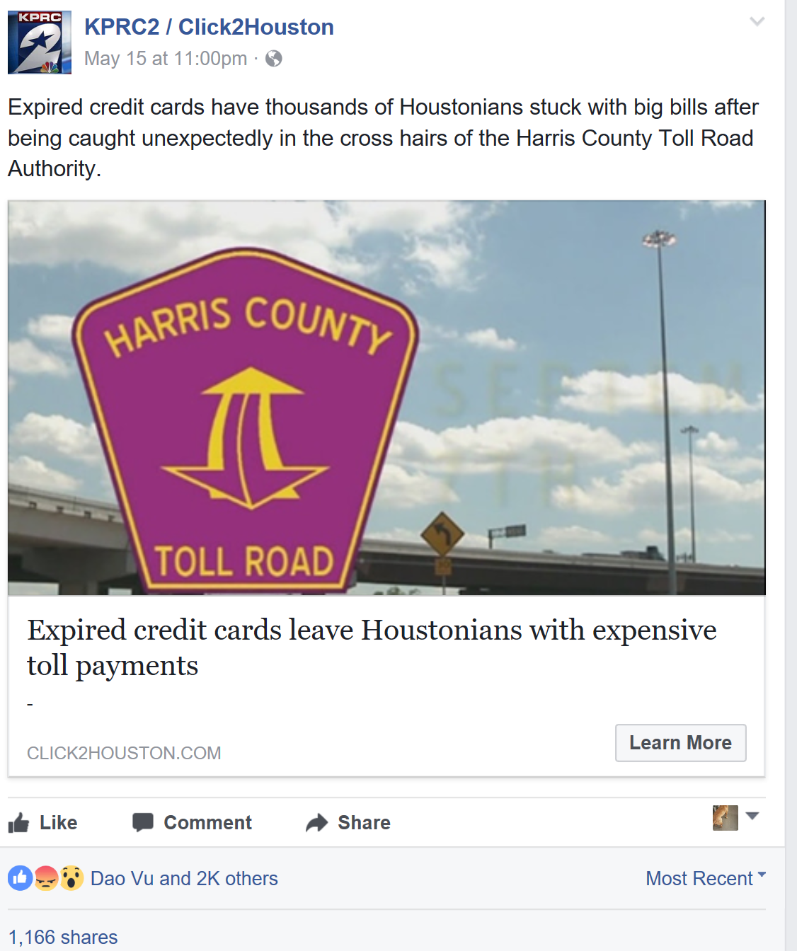 Houston Texas Toll Road Defense Attorney Featured on Channel 2 KPRC